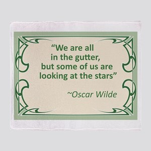 Wilde on Gutters and Stars Throw Blanket