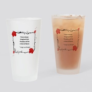 Paradise Library Drinking Glass