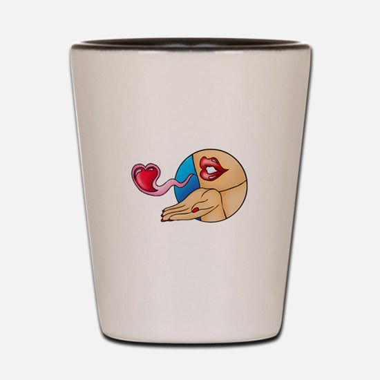 Tattoo Kiss Shot Glass