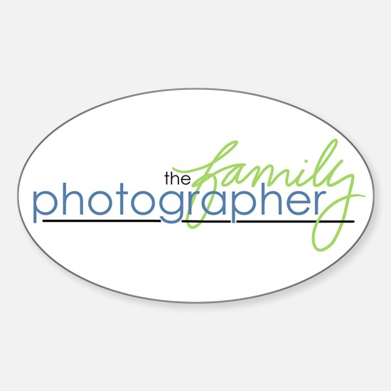 the family photographer Oval Decal