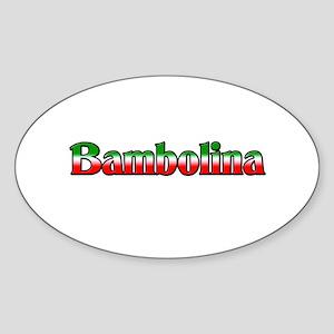 Bambolina Oval Sticker
