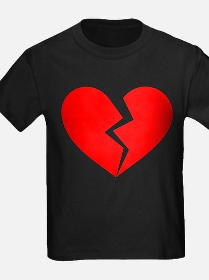Red Broken Heart Symbol T