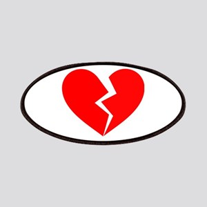 Red Broken Heart Symbol Patches
