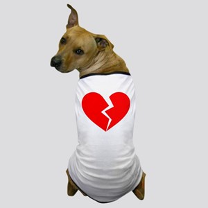 Red Broken Heart Symbol Dog T-Shirt