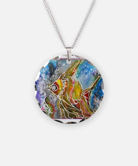 Fish, tropical, art, Necklace