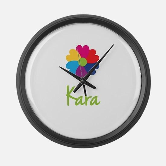 Kara Valentine Flower Large Wall Clock