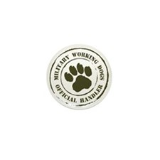 Army Working Dogs Mini Button