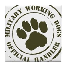 Army Working Dogs Tile Coaster