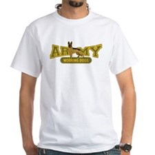 Army Working Dogs White T-Shirt