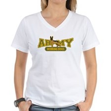 Army Working Dogs Women's V-Neck T-Shirt