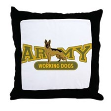 Army Working Dogs Throw Pillow