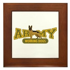 Army Working Dogs Framed Tile