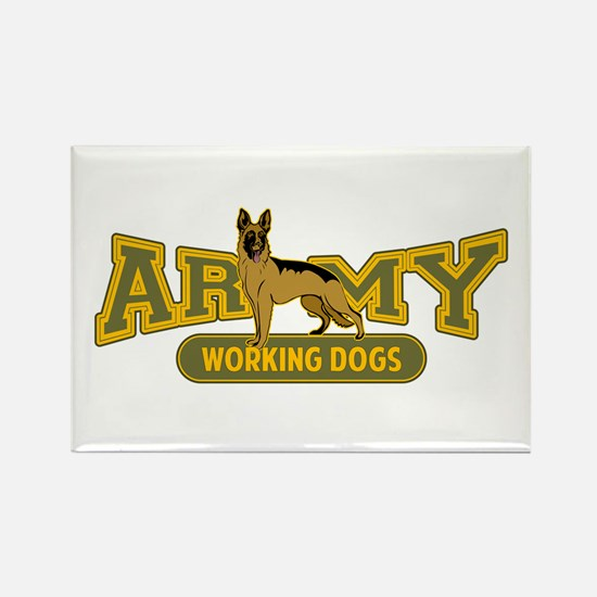 Army Working Dogs Rectangle Magnet