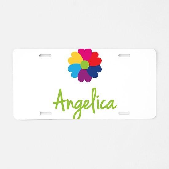 Angelica Valentine Flower Aluminum License Plate