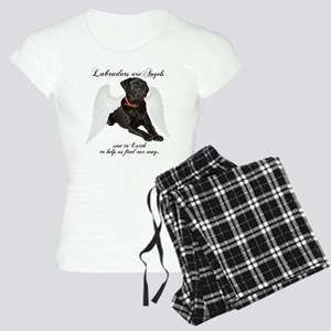 Black Lab Angel Women's Light Pajamas