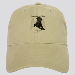 Black Lab Angel Cap
