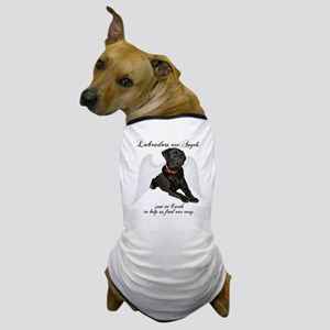Black Lab Angel Dog T-Shirt