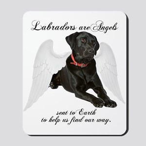 Black Lab Angel Mousepad