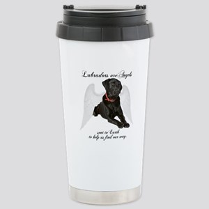 Black Lab Angel Stainless Steel Travel Mug