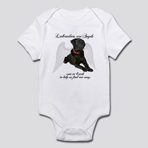 Black Lab Angel Infant Bodysuit