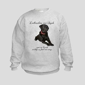 Black Lab Angel Kids Sweatshirt