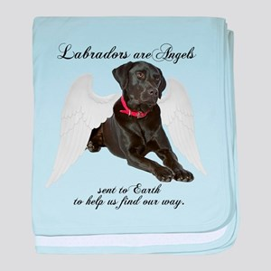 Black Lab Angel baby blanket