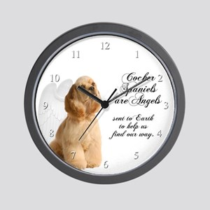 Cocker Angels Wall Clock