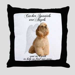 Cocker Angels Throw Pillow