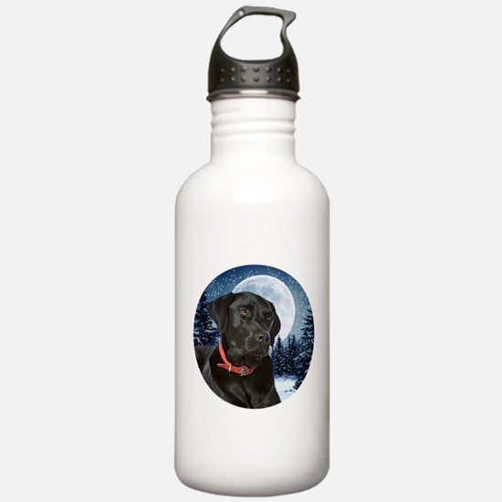 Black Lab Water Bottle
