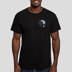 Black Lab Men's Fitted T-Shirt (dark)