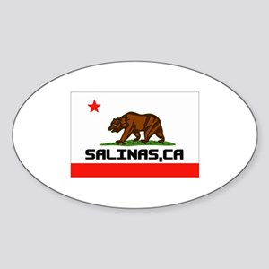 Salinas, Ca -- T-Shirt Sticker (Oval)