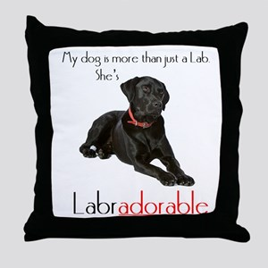 SHE's Labradorable Throw Pillow