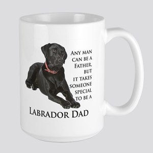 Black Lab Dad Large Mug