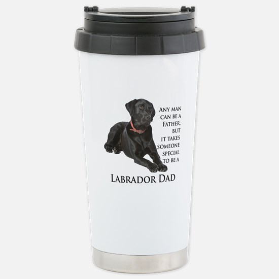 Black Lab Dad Stainless Steel Travel Mug