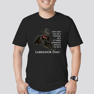 Black Lab Dad Men's Fitted T-Shirt (dark)