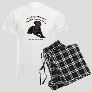 Black Lab vs Wife Men's Light Pajamas