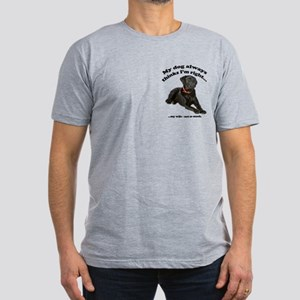 Black Lab vs Wife Men's Fitted T-Shirt (dark)
