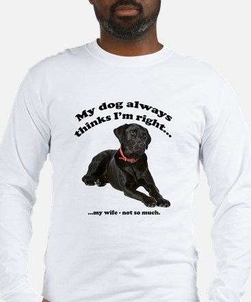 Black Lab vs Wife Long Sleeve T-Shirt