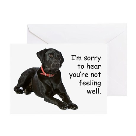 Black Lab Get Well Card