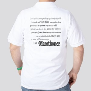 I Am a Marathoner Golf Shirt