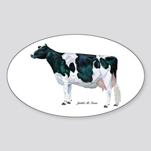 Holstein Cow Sticker (Oval)