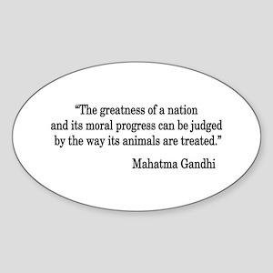 Gandhi Quote Oval Sticker