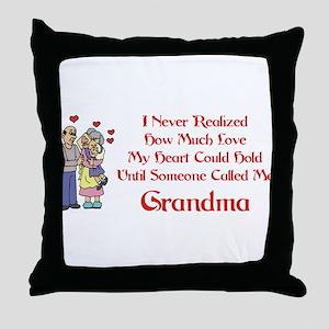 Called Me Grandma Throw Pillow
