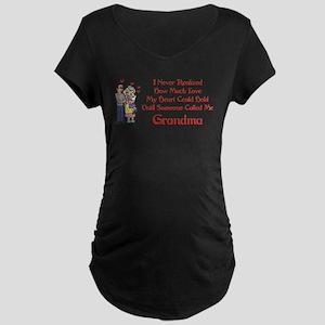 Called Me Grandma Maternity Dark T-Shirt