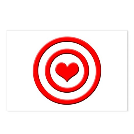Heart Target - Postcards (Package of 8)