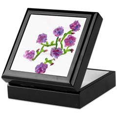 Purple Flowers Keepsake/Jewelry Box