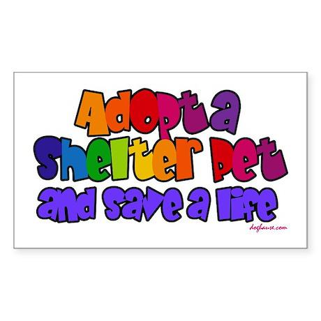 Adopt Shelter Pet Rectangle Sticker