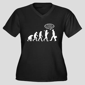 Funny - Evolution FAIL! Women's Plus Size V-Neck D