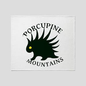 Porcupine Mountains Throw Blanket