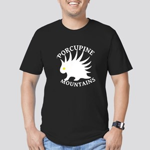 Porcupine Mountains Men's Fitted T-Shirt (dark)